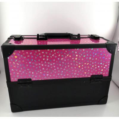 Βαλιτσάκι επαγγελματικό pink mirror 2020-46-1
